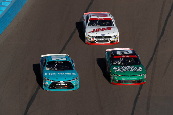 NASCAR XFINITY Series Ticket Galaxy 200 Phoenix Raceway, Avondale, AZ USA Saturday 11 November 2017 Erik Jones, GameStop Call of Duty WWII Toyota Camry, Daniel Hemric, Blue Gate Bank Chevrolet Camaro, Cole Custer, Haas Automation Ford Mustang World Copyright: Michael L. Levitt LAT Images