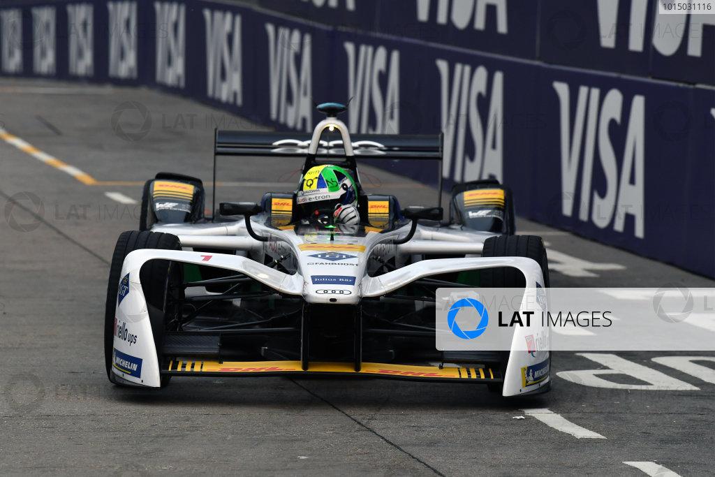 2017/2018 FIA Formula E Championship. Round 1 - Hong Kong, China. Saturday 02 December 2018. Lucas Di Grassi (BRA), Audi Sport ABT Schaeffler, Audi e-tron FE04. Photo: Mark Sutton/LAT/Formula E ref: Digital Image DSC_8392