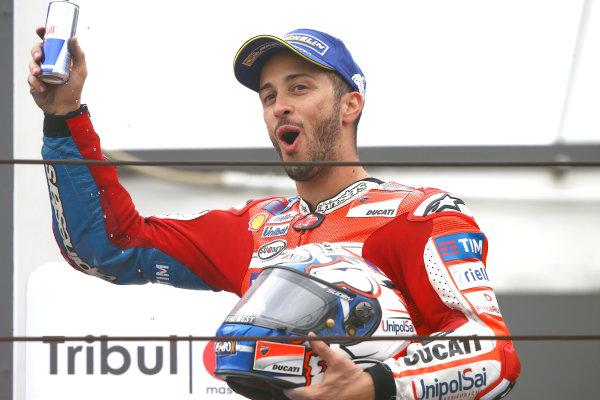 2017 MotoGP Championship - Round 13 Misano, Italy. Sunday 10 September 2017 Podium: third place Andrea Dovizioso, Ducati Team World Copyright: Gold and Goose / LAT Images ref: Digital Image 7941