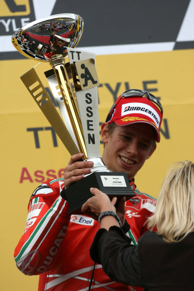 TT Circuit Assen, Netherlands. 28th June 2008.MotoGP Race.Casey Stoner Ducati Marlboro Team wins for the 2nd time in a week to close on the championship lead.World Copyright: Martin Heath / LAT Photographicref: Digital Image Only