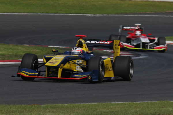 2017 Japanese Super Formula. Fuji, Japan. 8th - 9th July 2017. Rd 3. 2nd position Felix Rosenqvist ( #7 SUNOCO TEAM LEMANS SF14 ) action World Copyright: Yasushi Ishihara / LAT Images. Ref: 2017SF_Rd3_007