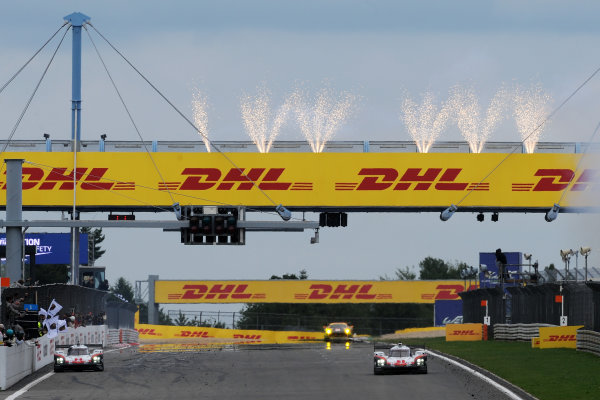 2017 World Endurance Championship, Nurburgring, Germany. 14th-16th July 2017 #1 Porsche LMP Team Porsche 919 Hybrid: Neel Jani, Andre Lotterer, Nick Tandy and #2 Porsche LMP Team Porsche 919 Hybrid: Timo Bernhard, Earl Bamber, Brendon Hartley win the race  World copyright. JEP/LAT Images