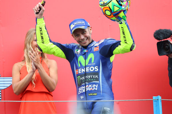 2017 MotoGP Championship - Round 8 Assen, Netherlands Sunday 25 June 2017 Podium: Race winner Valentino Rossi, Yamaha Factory Racing World Copyright: David Goldman/LAT Images ref: Digital Image 680254