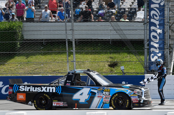 NASCAR Camping World Truck Series Overton?s 150 Pocono Raceway, Long Pond, PA USA Saturday 29 July 2017 Christopher Bell, SiriusXM Toyota Tundra, celebrates after winning. World Copyright: John K Harrelson LAT Images