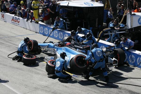 19-21 April 2013, Long Beach, California USA Simon Pagenaud pit stop.(c)2013, Todd Davis LAT Photo USA