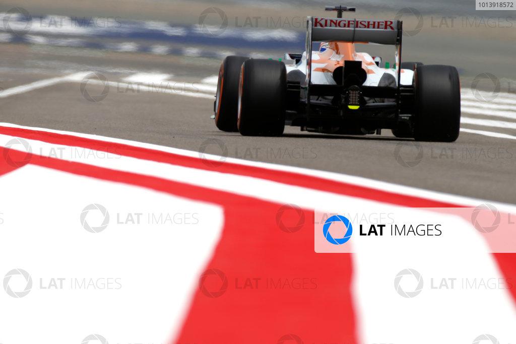Bahrain International Circuit, Sakhir, Bahrain Friday 19th April 2013 Paul di Resta, Force India VJM06 Mercedes.  World Copyright: Glenn Dunbar/LAT Photographic ref: Digital Image _89P0080