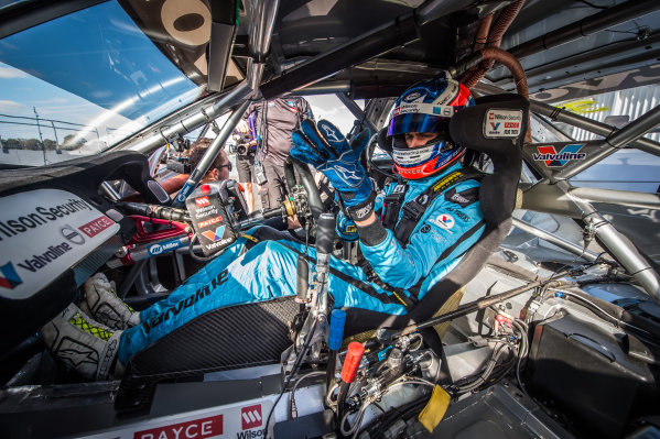 2016 V8 Supercar Championship Round 5.  Winton SuperSprint, Winton Raceway, Victoria, Australia. Friday 19th May to Sunday 21st May 2016. David Wall co-driver of the #34 Wilson Security Racing GRM Volvo S60. World Copyright: Daniel Kalisz/LAT Photographic Ref: Digital Image 200516_V8SCR5_WINTON_DKIMG_0157.JPG