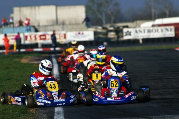 Fernando Alonso (ESP) World Karting Championship, Margutti, Parma, Italy March 1997.