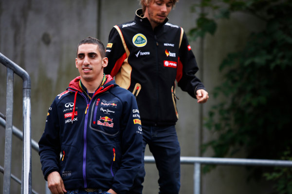 Spa-Francorchamps, Spa, Belgium. Friday 22 August 2014. Sebastien Buemi, Test and Reserve Driver, Red Bull Racing. World Copyright: Charles Coates/LAT Photographic. ref: Digital Image _J5R9238