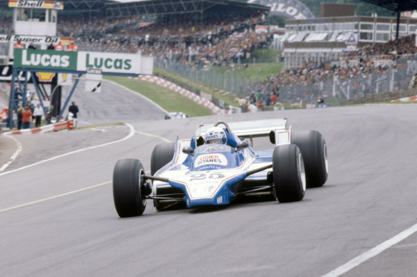 Brands Hatch, Great Britain. 11-13 July 1980. Didier Pironi, Ligier JS11/15-Ford Cosworth, retired. World Copyright: LAT Photographic. Ref: 80GB12