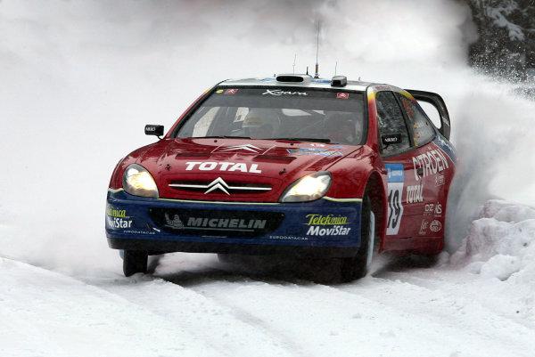 2003 FIA World Rally Championship. Karlstad, Sweden. Rd2.6-9 February 2003.Carlos Sainz/Marc Marti (Citroen Xsara) 9th position. World Copyright: McKlein/LAT Photographic
