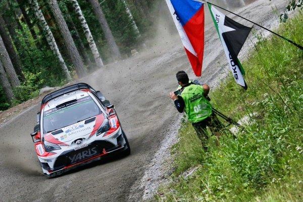 Esapekka Lappi (FIN) / Janne Ferm (FIN), Toyota Gazoo Racing WRT Toyota Yaris WRC at World Rally Championship, Rd9, Rally Finland, Preparations and Shakedown, Jyvaskyla, Finland, 27 July 2017.