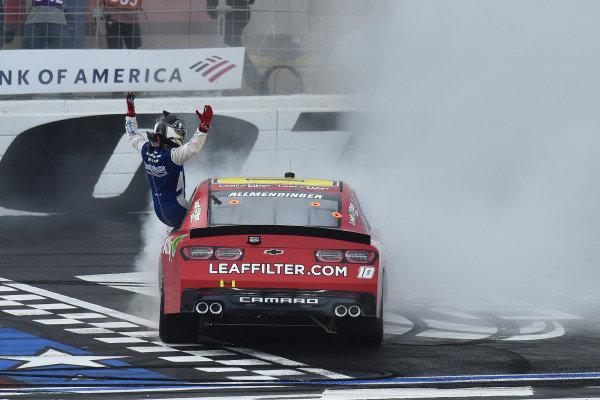 #10: A.J. Allmendinger, Kaulig Racing, Chevrolet Camaro Digital Ally celebrates his win