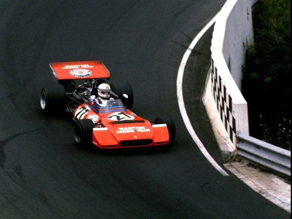 1972 German Grand Prix.Nurburgring, Germany.28-30 July 1972.Derek Bell (Tecno PA123). Ref: 72 GER92. World Copyright - LAT Photographic