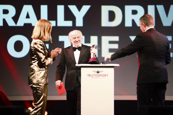 David Richards on stage to present the Rally Driver of the Year award.