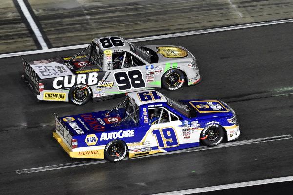 #19: Derek Kraus, McAnally Hilgemann Racing, Toyota Tundra NAPA Auto Care and #98: Christian Eckes, ThorSport Racing, Toyota Tundra
