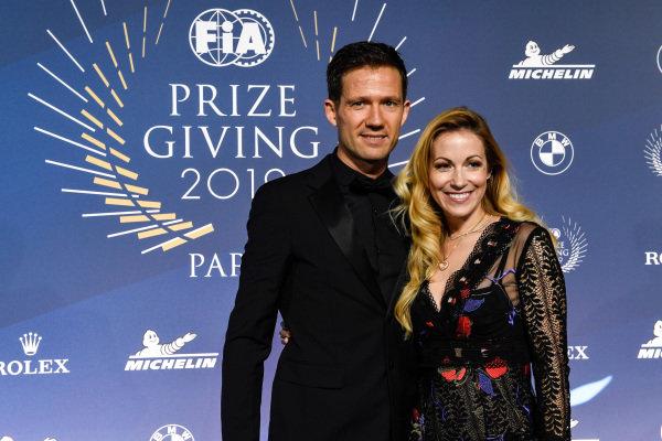 Sebastien Ogier with wife Andrea Kaiser