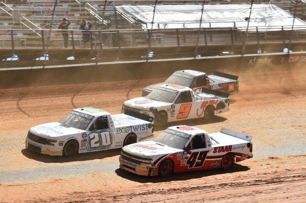 #49: Andrew Gordon, CMI Motorsports, Chevrolet Silverado CMI Insulation, #20: Spencer Boyd, Young's Motorsports, Chevrolet Silverado EcoTwist