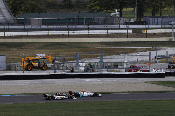 #21: Rinus VeeKay, Ed Carpenter Racing Chevrolet, #88: Colton Herta, Andretti Harding Steinbrenner Autosport Honda