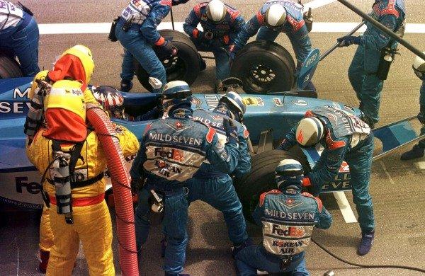 1998 Spanish Grand Prix.Catalunya, Barcelona, Spain.8-10 May 1998.Alexander Wurz (Benetton B198 Playlife) 4th position.World Copyright - LAT Photographic