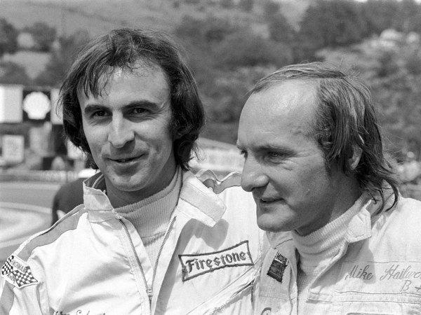Surtees Team mates, Tim Schenken(AUS) left, and Mike Hailwood(GBR)French GP, Clermont Ferrand,  July 4, 1972