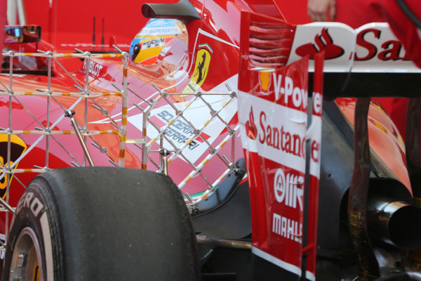 Fernando Alonso (ESP) Ferrari F14 T with aero sensor. Formula One Testing, Day One, Bahrain International Circuit, Sakhir, Bahrain, Wednesday 19 February 2014.