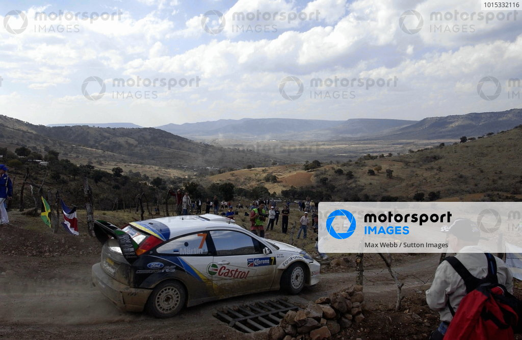 Rally winner Markko Martin (EST) / Michael Park (GBR) Ford Focus RS WRC 03.World Rally Championship, Rd3, Rally Mexico, Leon, Mexico. Day Three. 14 March 2004.DIGITAL IMAGE