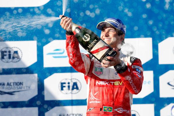 2014/2015 FIA Formula E Championship.Nelson Piquet Jr (BRA)/China Racing - Spark-Renault SRT_01E  Long Beach ePrix, Long Beach, California, United States of America. Sunday 5 April 2015  Photo: Al Staley/LAT/Formula E ref: Digital Image _R6T8717