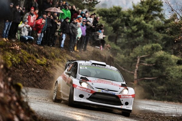 www.sutton-images.com - Henning Solberg (NOR) / Ilka Minor (AUT) Ford Fiesta RS WRC at the FIA World Rally Championship, Rd1, Rally Monte Carlo, Preparations and Shakedown, Monte Carlo, 22 January 2015. Photo Sutton Images