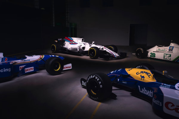 Williams Martini Racing FW40 Mercedes Launch. Grove, Oxfordshire, United Kingdom. February, 2017. The Williams FW40 Mercedes pre-test photo shoot. Photo: Drew Gibson/Williams Ref: Heritage 002 - 19