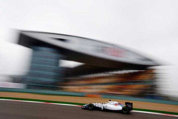 Shanghai International Circuit, Shanghai, China. Saturday 19 April 2014. Felipe Massa, Williams FW36 Mercedes. World Copyright: Charles Coates/LAT Photographic. ref: Digital Image _N7T2707
