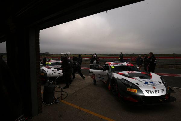 2016 British GT Championship, Media Day, Snetterton, 15 March 2016. Ian Stinton / Mike Simpson Tolman Motorsport Ginetta G55 GT3 World copyright. Ebrey/LAT Photographic