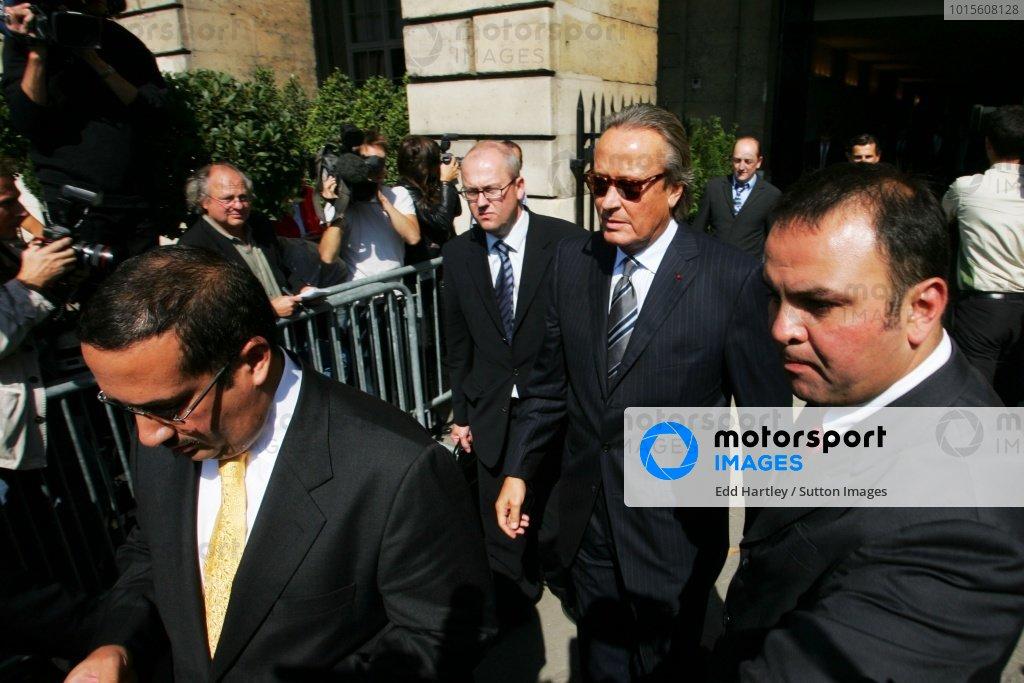 Mansour Ojjeh (KSA) Tag McLaren Group. FIA World Council Hearing, FIA, Place de la Concorde, Paris, France, 13 September 2007.