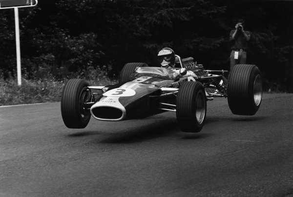 1683_12A_GER67.JPG  Nurburgring, Germany. 4-6 August 1967. Jim Clark (Lotus 49 Ford). Ref-1683/12A. World Copyright - LAT Photographic