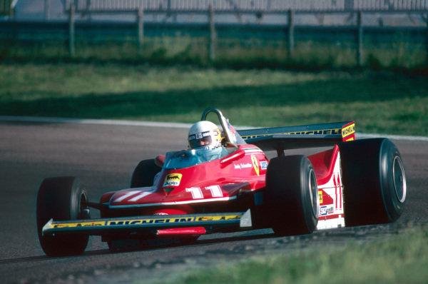 Jody Scheckter (RSA) Ferrari on his way to a second place finish. Formula One World Championship, Rd12, Dutch Grand Prix, Zandvoort, Holland. 26 August 1979.