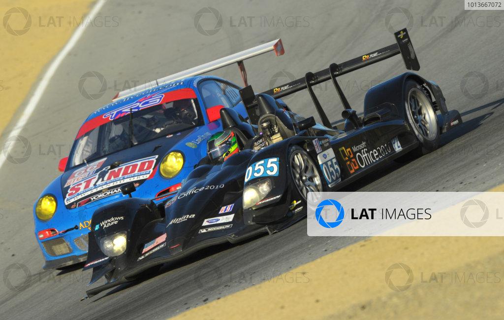 16-18 September, 2011, Monterey, California USA#055 Level 5 Motorsports Lola Honda with #66 Porsche(c)2011,  Dan R. Boyd  LAT Photo USA