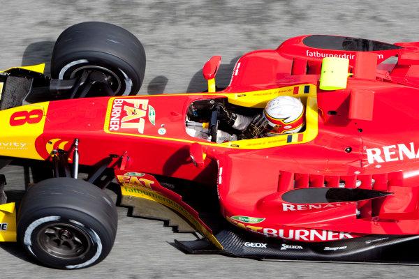 Jerez, Spain. Thursday 8th October. Jerome d' Ambrosio (BEL, Fat Burner Racing Engineering). Action.  World Copyright: Alastair Staley/ GP2 Series Media Service.Ref: _O9T7274 jpg