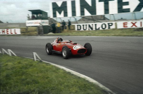 Aintree, England. 18-20 July 1957. Peter Collins (Lancia-Ferrari D50 801). Ref-57 GB 09. World Copyright - LAT Photographic