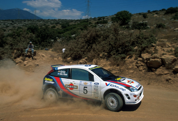 2000 World Rally Championship. Round 7, Acropolis Rally Greece. 9th -11th June 2000 Colin McRae in action in the Ford Focus. Photo: McKlein
