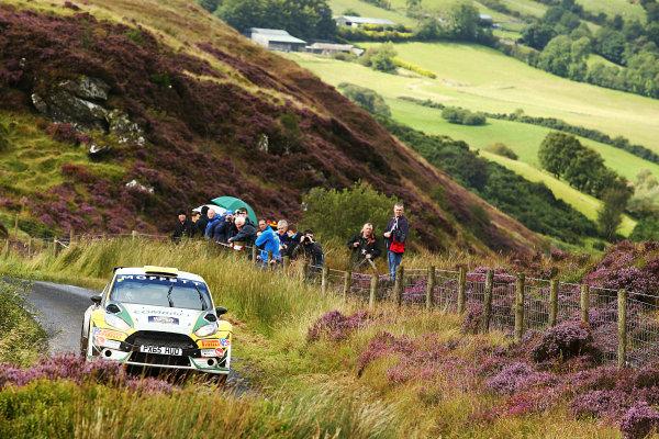 2017 British Rally Championship, Ulster Rally, Londonderry. 18th - 19th August 2017. Sam Moffatt / Karl Atkinson Ford Fiesta World Copyright: JEP/LAT Images.