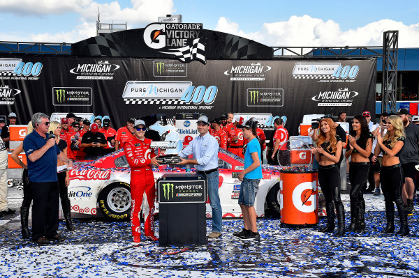 Monster Energy NASCAR Cup Series Pure Michigan 400 Michigan International Speedway, Brooklyn, MI USA Sunday 13 August 2017 Kyle Larson, Chip Ganassi Racing, Target Chevrolet SS wins World Copyright: Rusty Jarrett LAT Images