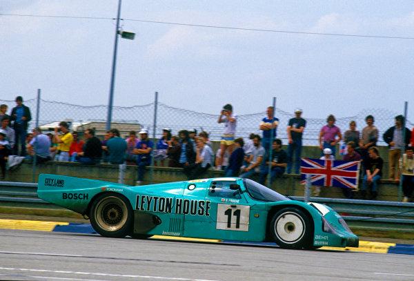 Le Mans, France. 10th - 11th June 1987.George Fouche/Wayne Taylor/Franz Konrad (Porsche 962C), 4th position, action. World Copyright: LAT Photographic.Ref: 87LM02.