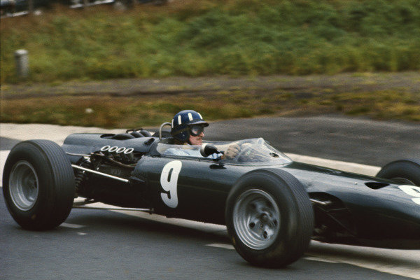 Nurburgring, Germany. 30/7 - 1/8 1965. RD7Graham Hill, BRM P261, 2nd position, action.World Copyright: LAT Photographic.Ref: 65GER03.