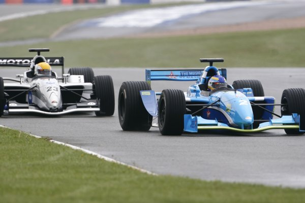 2006 Grand Prix Masters.Silverstone, England. 11th - 13th August.Stefan Johansson leads Pierluigi Martini.Action.World Copyright: Drew Gibson/LAT Photographic.Ref: Digital Image Only.