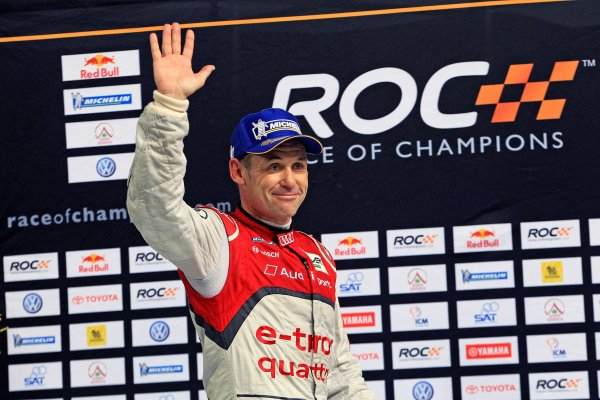 Rajamangala Stadium, Bangkok, Thailand 13th - 16th December 2012 Tom Kristensen on the podium at the Race Of Champions World Copyright: IMP (USAGE FREE FOR EDITORIAL PURPOSES ONLY)