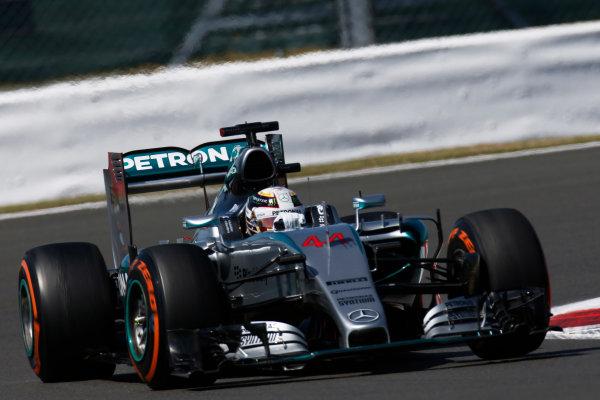 Silverstone Circuit, Northamptonshire, England. Friday 3 July 2015. Lewis Hamilton, Mercedes F1 W06 Hybrid. World Copyright: Alastair Staley/LAT Photographic ref: Digital Image _79P9447