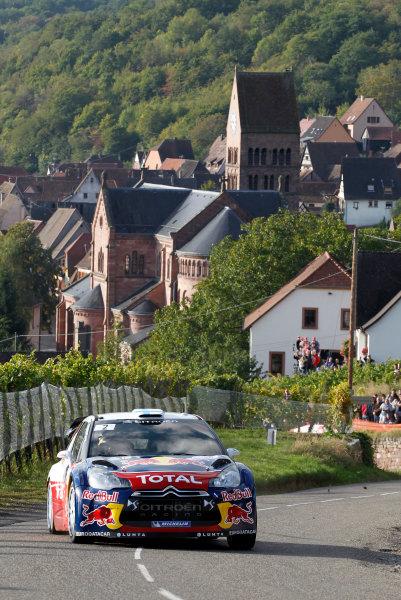 Round 11, Rallye de France 20124th - 7th October 2012Mikko Hirvonen, Citroen, actionWorldwide Copyright: McKlein/LAT