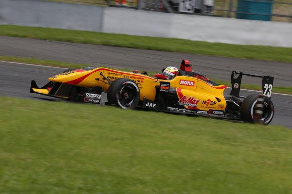 2014 All-Japan F3 Championship. Fuji, Japan. 11th - 13th July 2014. Rd 4. Race 2 - 3rd position Daiki Sasaki ( #23 B-MAX Racing Team with NDDP ) action. World Copyright: Yasushi Ishihara / LAT Photographic. Ref: 2014JF3_Rd8&9_030.JPG