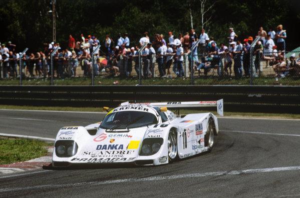 Le Mans, France. 19th - 20th June 1993. Jurgen Lassig/Giovanni Lavaggi/Wayne Taylor (Porsche 962CK6), 12th position, action.  World Copyright: LAT Photographic. Ref:  93LM18.