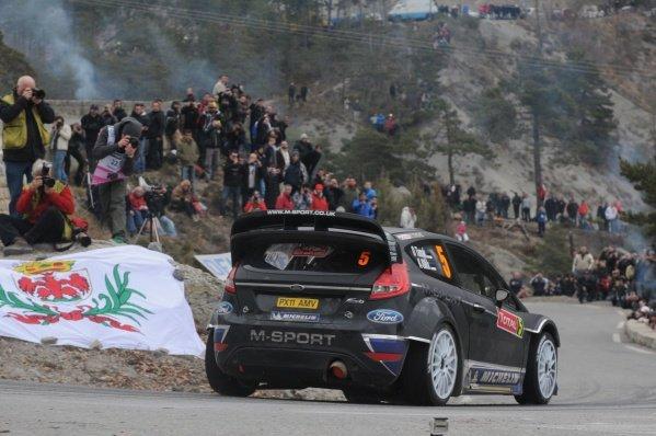 Ott Tanak (EST), Ford Fiesta RS WRC, on stage 15. FIA World Rally Championship, Rd1, Rallye Monte-Carlo, Monaco, Day Four, Saturday 21 January 2012.
